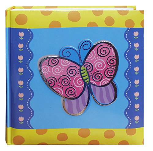 Pioneer Photo Albums 200-Pocket 3-D Butterfly Applique Cover Photo Album, 4 by 6-Inch