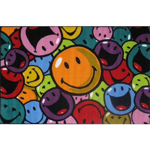 Smiley Face Smiles & Laughs Area Rug 19