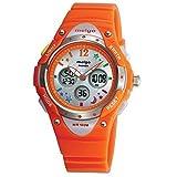 Pasnew de haute qualité 100m eau-preuve Dual Time unisexe enfant extérieur Sport Montre orange