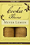Trader Joe's Meyer Lemon Cookie Thins 9oz(255g)
