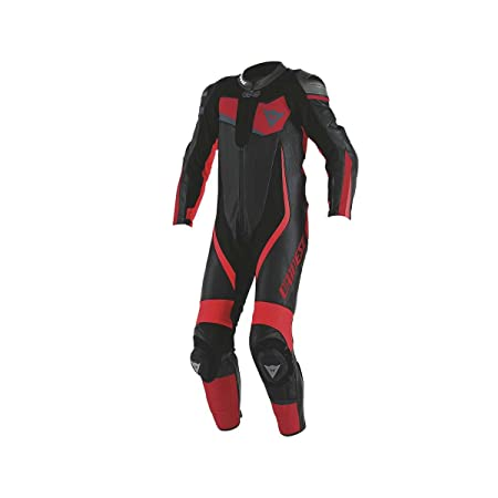 Dainese 1513437_867_46 Veloster Perforated Suit 1 Pièce, Noir/Anthracite/Blanc, 46 cm