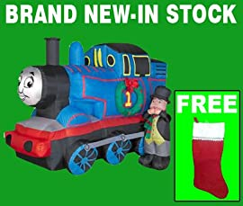 Blow up christmas yard decorations airblown 5 ft inflatable thomas