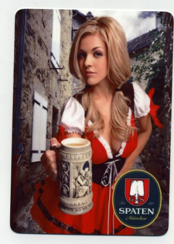Sexy Spaten beer girl metal sign - Munich Oktoberfest (Spaten Beer compare prices)