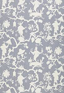 Shantung Silhouette Print Wisteria by F Schumacher Fabric