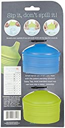 Siliskin Sippy Tops, 2pk, Fresh and H2O color.