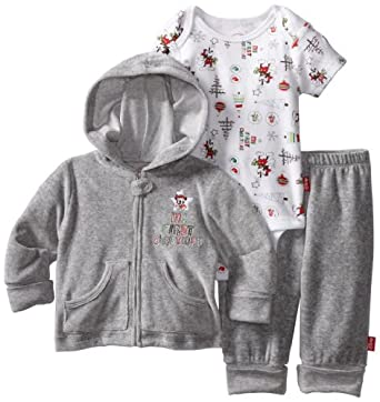 Disney Baby-Boys Newborn Cuddly Bodysuit, Heathered Gray, 0-3 Months