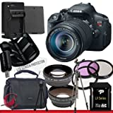 EOS Rebel T5i Black SLR Digital Camera Kit w/ 18-55 mm Lens (18 MP, SD/SDHC/SDXC cardslot)