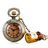 Carrie Hughes Vintage Alice in Wonderland Wishing Pocket Watches with Chain CH60