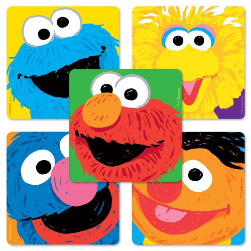 Sesame Street Faces Stickers - 75 Per Pack