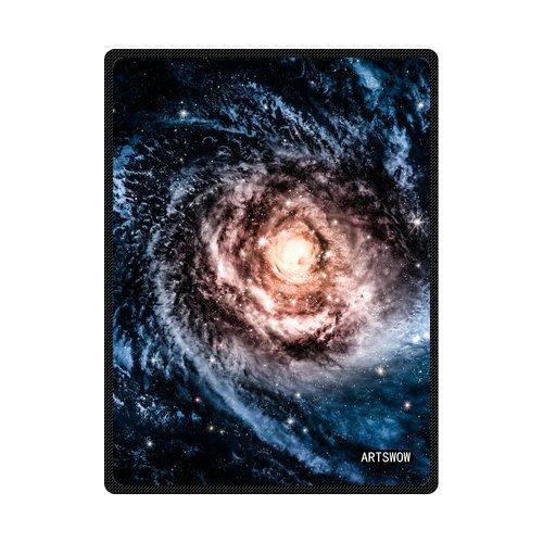 Awesome Galaxy Custom ARTSWOW Spiral-Coperta in pile, per interni ed esterni-Coperta da viaggio, 50 x 60 cm (taglia M)