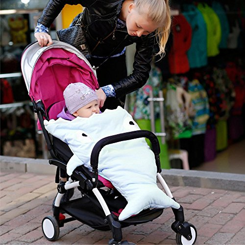 GreForest Cartoon Shark Baby Sleeping Bag Blue Polar Fleece Anti-kicking Baby Swaddle Blanket (Shark Sack compare prices)
