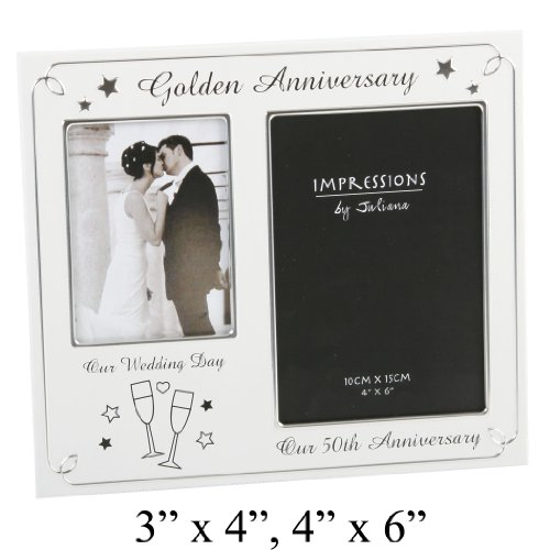 Golden Wedding Anniversary Photo Frame - (FA42750)