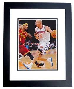 Jason Kidd Autographed Hand Signed New York Knicks 8x10 Photo - BLACK CUSTOM FRAME by Real+Deal+Memorabilia
