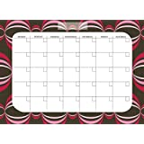 Brewster Wall Pops WPE99020 Peel & Stick Loopy Dry-Erase Monthly Calendar With Marker - Red