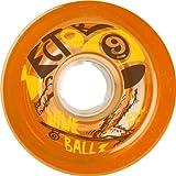 Sector 9 Top Shelf Nine Balls Skateboard Wheel, Orange, 72mm 75A by Sector 9