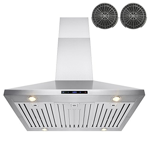 Fresh AKDY Kitchen Island Mount Stainless Steel Ductless LED Touch Control Range Hood AZ B IS CF