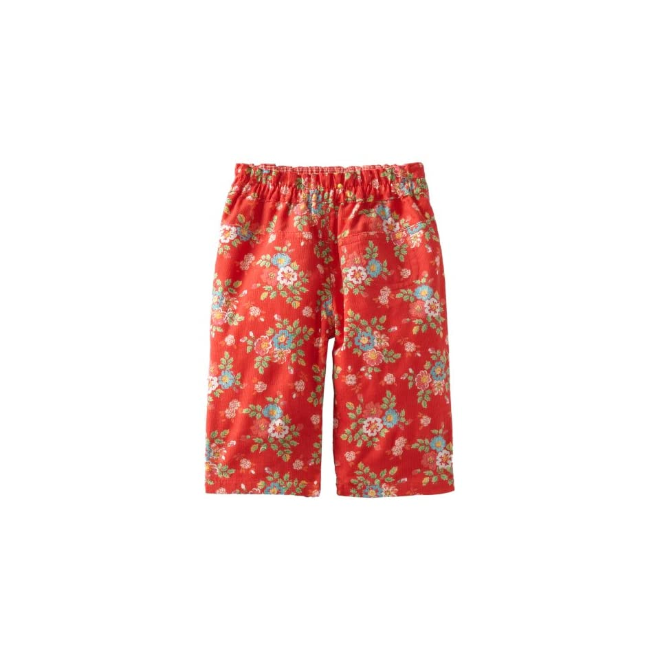 Room Seven Baby Girls Dada Pants, Red Fancy Flower, 74/12 Months