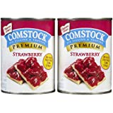 Comstock Strawberry Pie Filling/Topping - 21 oz - 2 pk