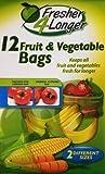 12 Fruit & Vegetable Bags - Fresher 4 Longer - 2 Different Sizes