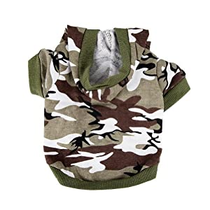 New Pet Dog Cat Camo Clothing Hoody Apparel Puppy Doggy Camouflage Coat
