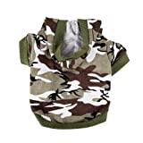 Army Green Camouflage Hoodie Pet Dog Clothes Camo Sweatshirt-S Size