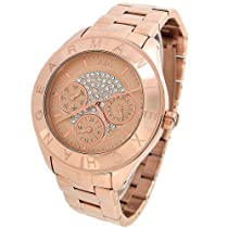 Armani Exchange Noemie Multi-Function Rose Rose gold Ion-plated Ladies Watch AX5153