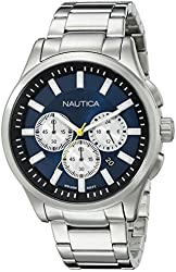 Nautica Men's NAD19533G NCT 17 Analog Display Quartz Blue Watch