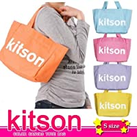 ★KITSON COLOR CANVAS TOTE BAG★5カラーキャンバストートバッグ★ロゴトートバッグ★キットソンL.A (Sサイズ)