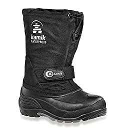 Kamik Waterbug 5 Cold Weather Boot (Toddler/Little Kid/Big Kid),Black,6 M US Big Kid