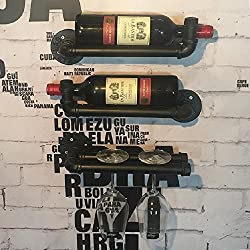 Industrial Pipe Design Wine Rack Ann