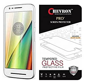 Chevron Amazing Pro+ 0.3 Mm 2.5D 9H Hardness Anti-Explosion Tempered Glass Screen Protector For Motorola Moto E (3Rd Gen) - Transparent