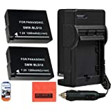 Pack of 2 DMW-BLD10 Batteries and Battery Charger for Panasonic Lumix DMC-GX1 DMC-GF2K DMC-G3K DMC-TS2A Digital Camera + More!!