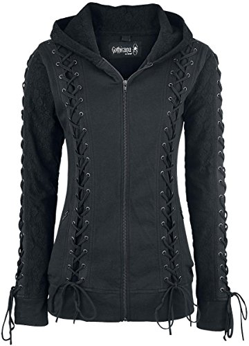 Gothicana by EMP Lace Hood Felpa jogging donna nero M