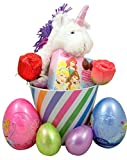Disney Princess Easter Basket with Candy Roses Eggs and Unicorn Plush Toy