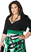 IGIGI Women's Plus Size Bolero-Style…
