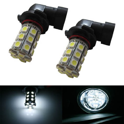 Ijdmtoy 27-Smd-5050 9145 H10 Led Bulbs For Fog Lights/Drl Driving Lights, Xenon White