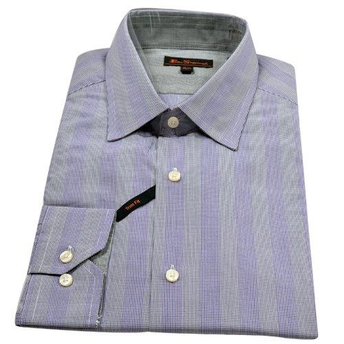 Ben Sherman Mens Gents Formal / Casual Fit Dress Long Sleeve Shirt