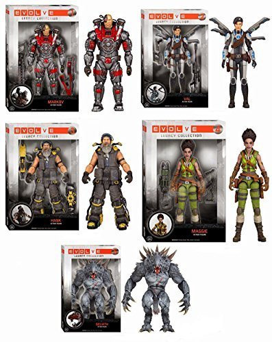 Evolve Goliath Maggie Hank Val Markov Legacy Collection Action Figures Set of 5