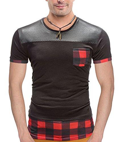 BetterStylz -  T-shirt - Collo a U - Uomo nero X-Large