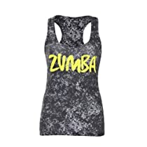 Zumba Fitness Cloud Nine Racerback Tank Top, Black, Small