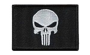 Punisher Skull Black Tactical Military Morale Velcro Patch Écusson Brodé Velcro Patch