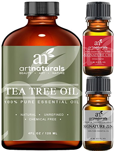Art Naturals Tea Tree Essential Oil Pure & Natural 4 Oz Premium Melaleuca Therapeutic Grade From Australia, Use With Soap & Shampoo, Face & Body Wash, Treatment for Acne, Lice & Many Skin Conditions (Wen Lavender Conditioner compare prices)