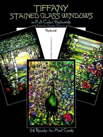 Tiffany Stained Glass Windows: in Full-Color (Post) Cards: 24 Cards (Dover Postcards)