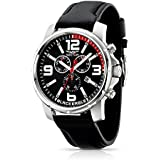 Sector Men's Quartz Watch Black Eagle R3271689002 with Leather Strap