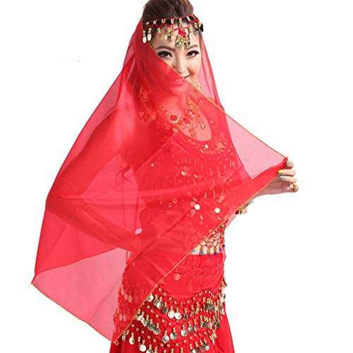 Pilot-trade Women Headband Belly Dance Face Veil Headpiece Head Scarf Shawl