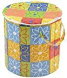 Azaan Decor Polyester Foldable Laundry Basket (40 cm x 40 cm x 40 cm, AD_520)
