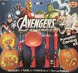 Marvel Avengers Pumpkin Carving Kit Garnish Tool Set with Patterns