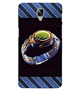 ColourCraft Beautiful Watch Design Back Case Cover for OnePlus Three