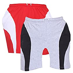TeesTadka Men's Cotton Shorts Pack of 2