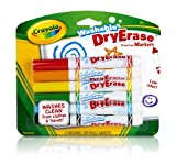 Crayola 6ct Dry Erase Broad Line Washable Markers